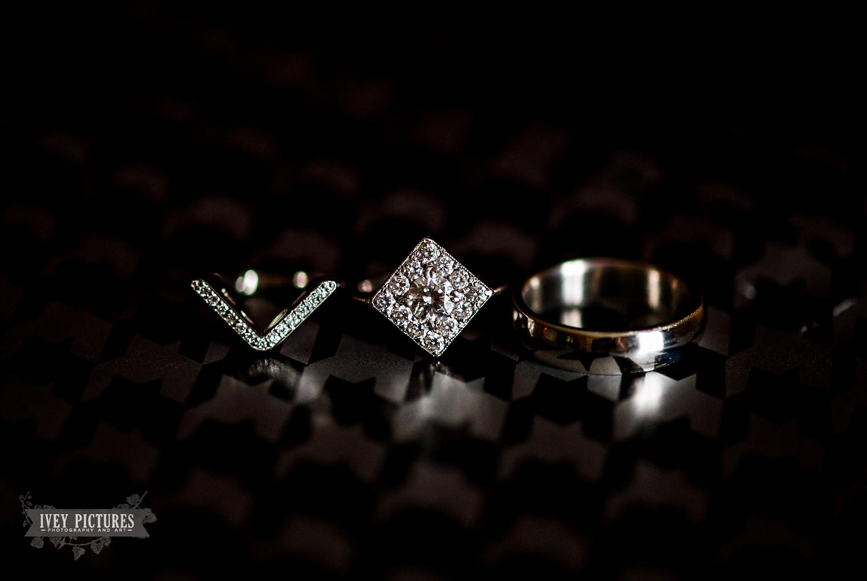 Art deco style wedding rings
