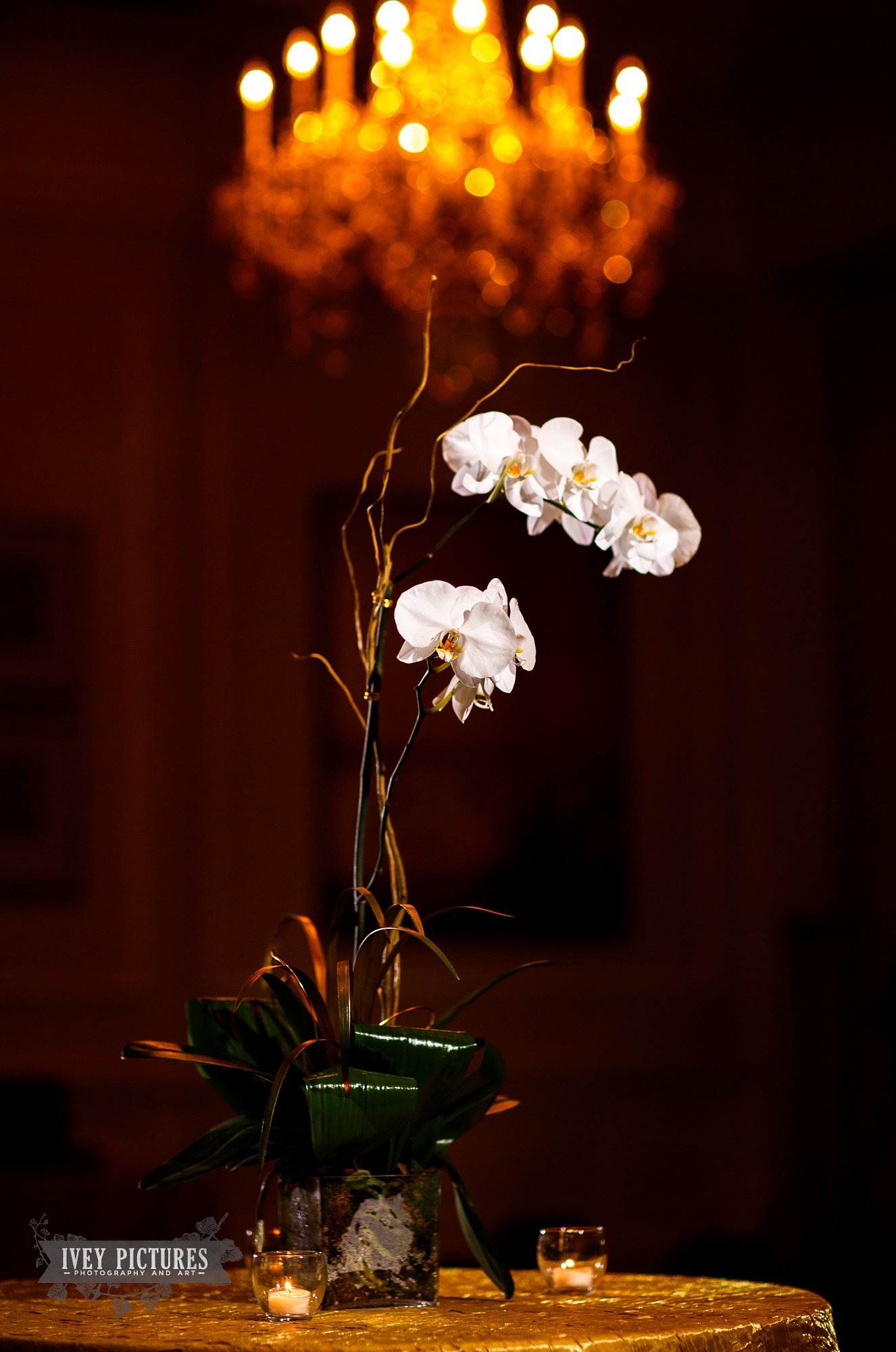 Orchids at wedding
