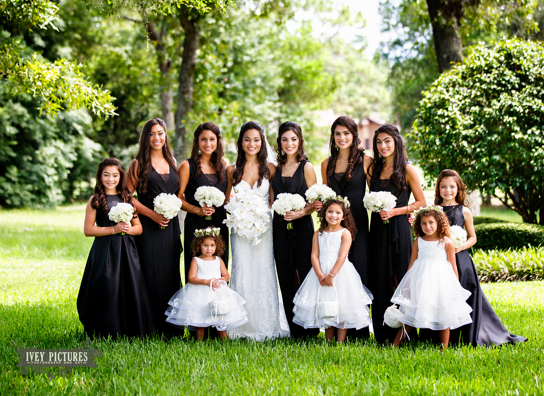 bride and bridesmaid formal