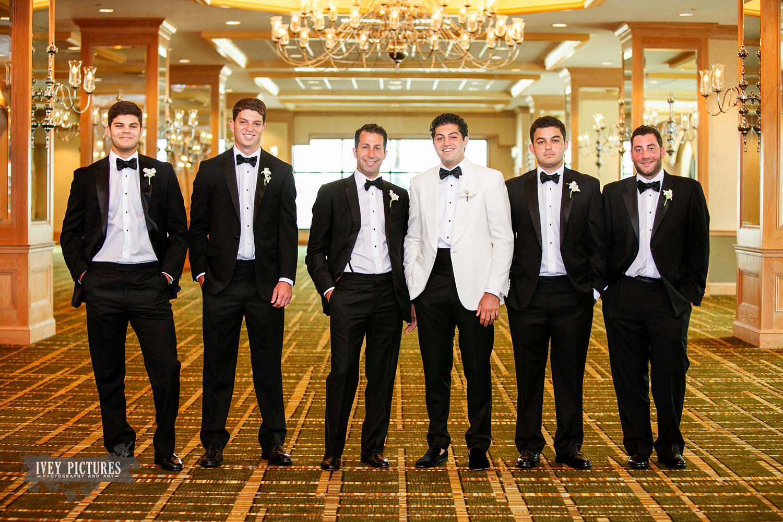 groom with groomsmen at The Hyatt Jacksonville