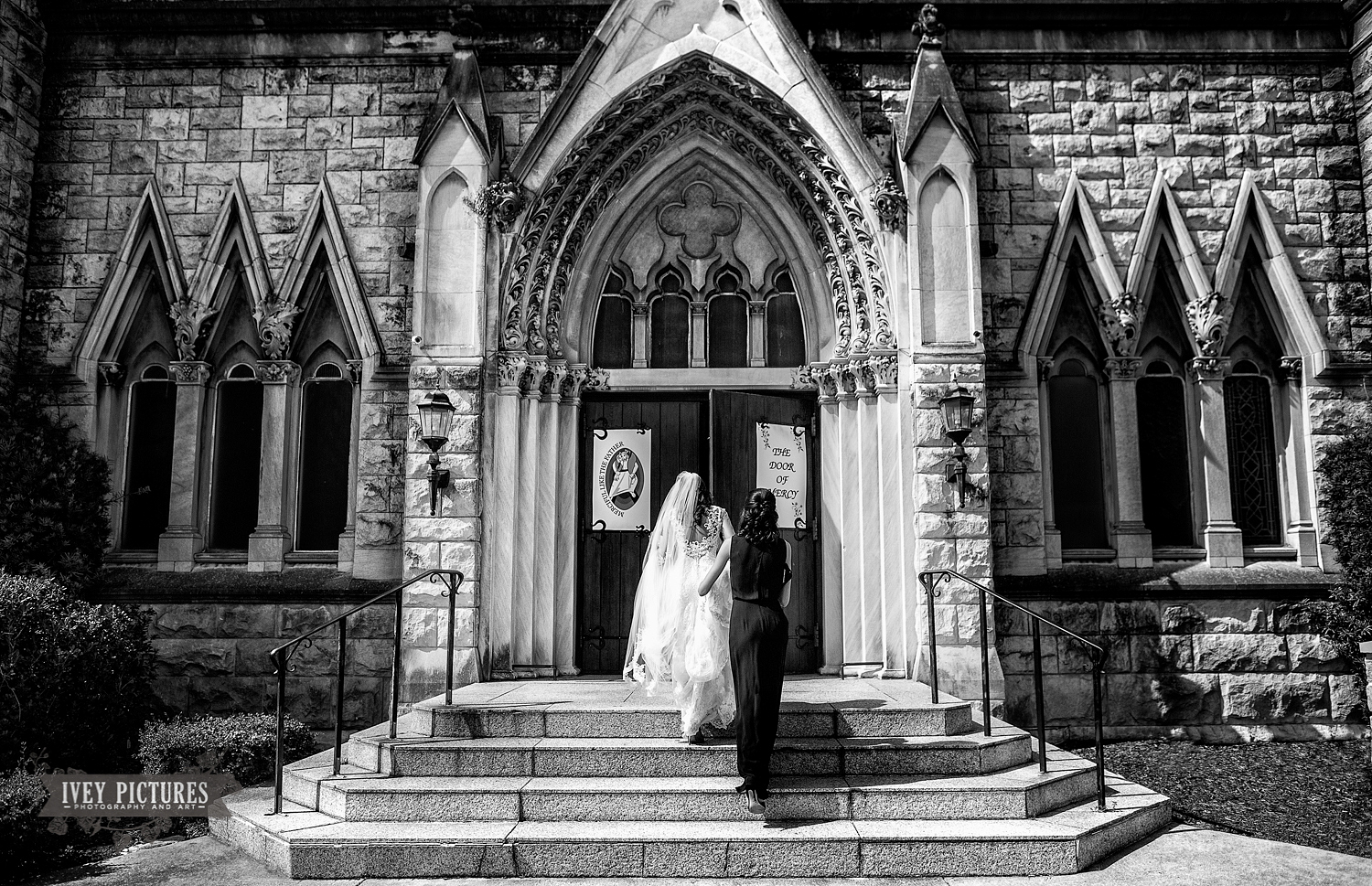 Bride at Church of the Immaculate  Conception Jacksonville