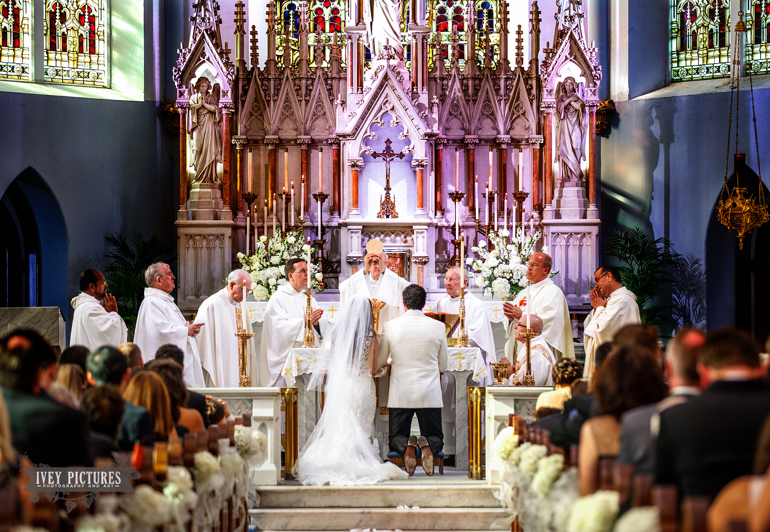 Basilica of the Immaculate Conception Catholic Church Jacksonville Wedding Photo