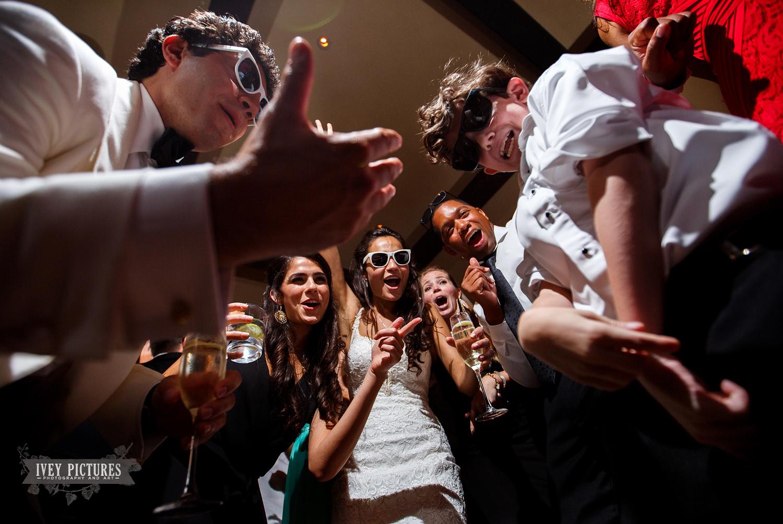 fun at wedding reception