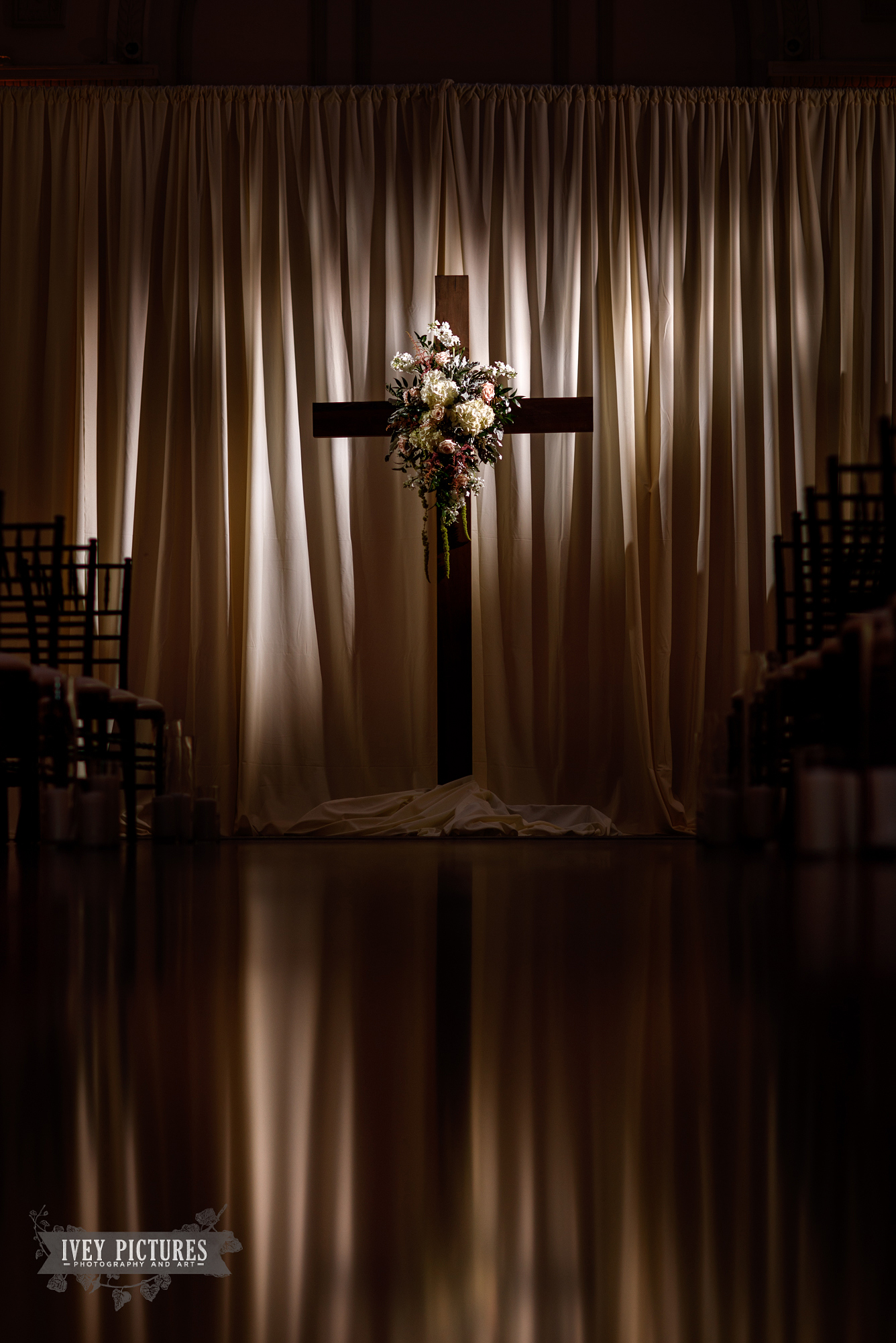 cross at wedding