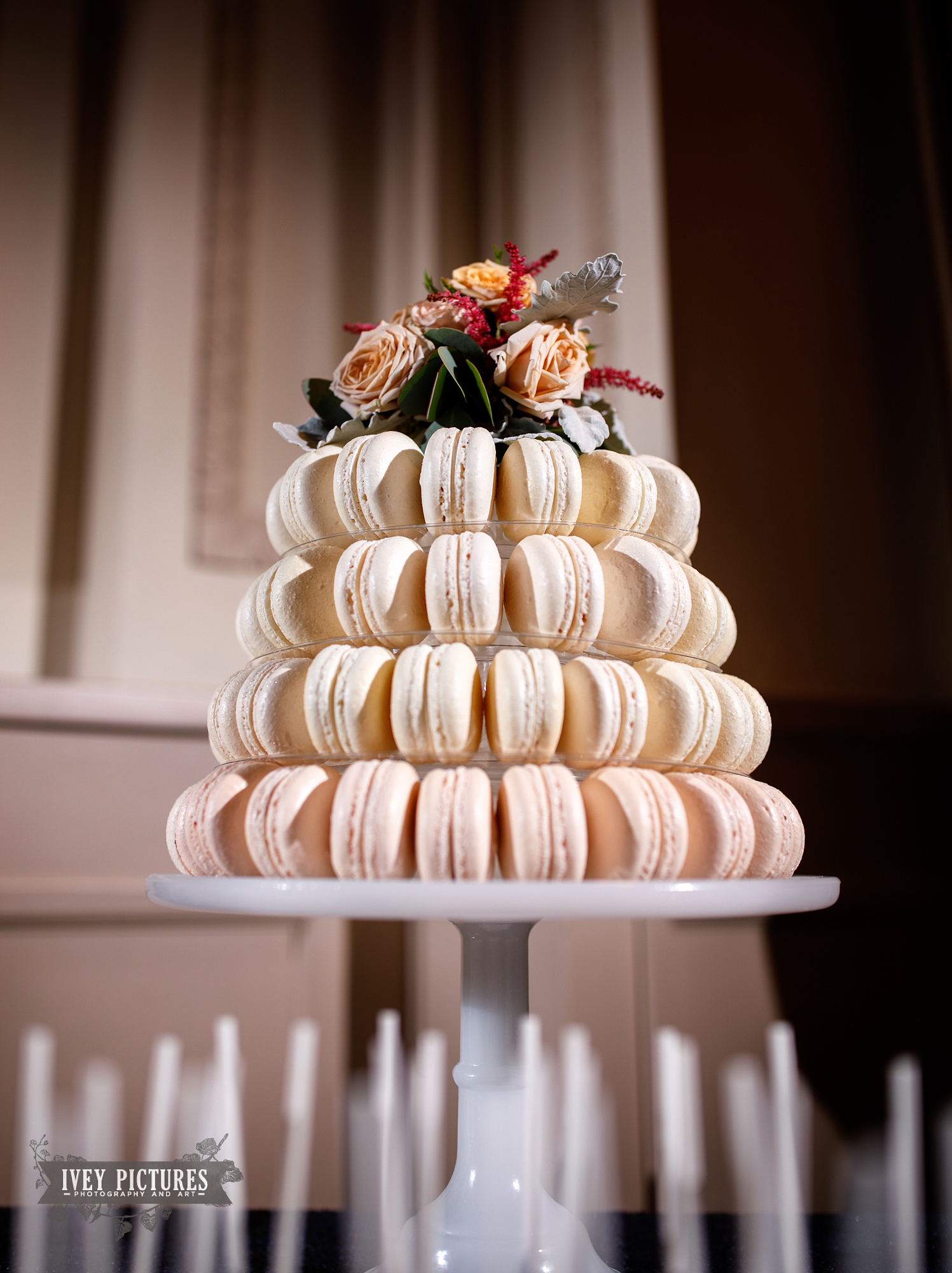 macaroons at wedding by Alley Cakes