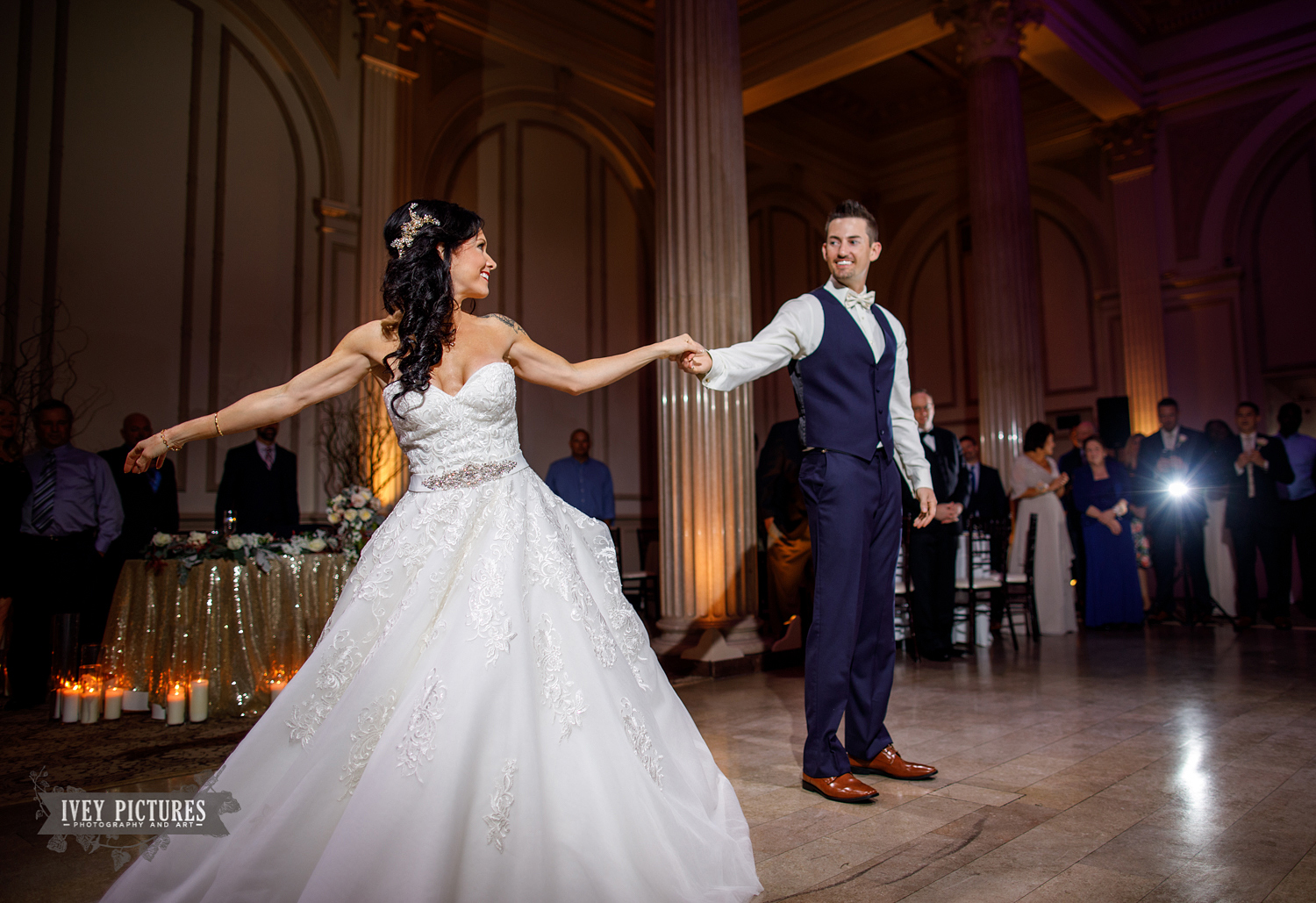 choreographed first dance at wedding