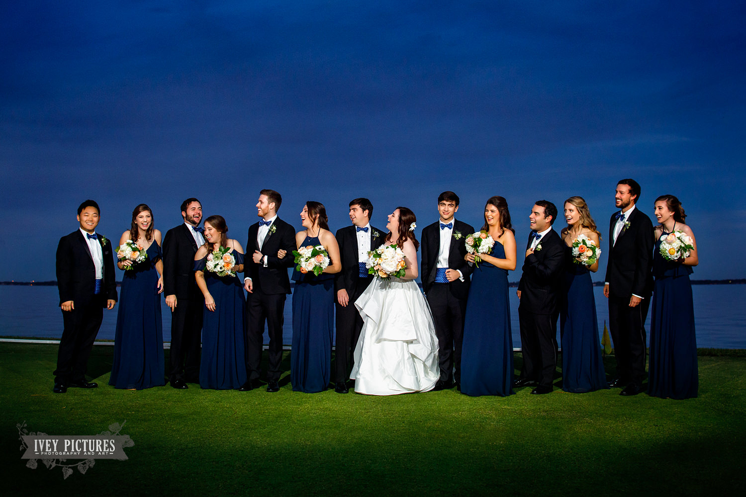 wedding party at The Florida Yacht Club