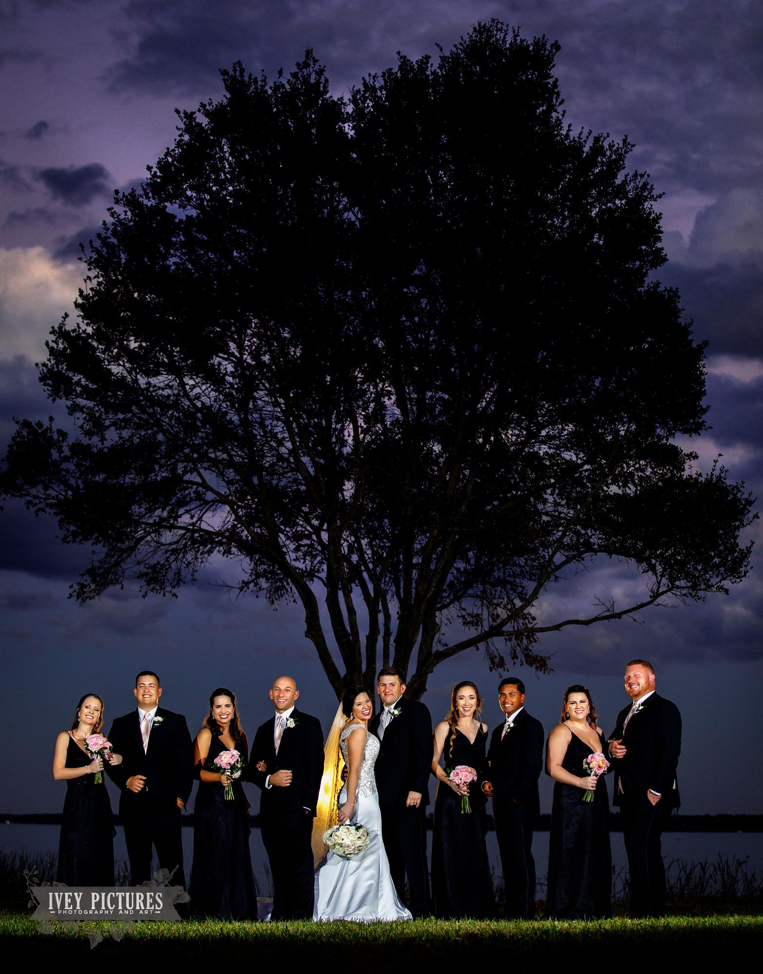 wedding party photos in jacksonville florida