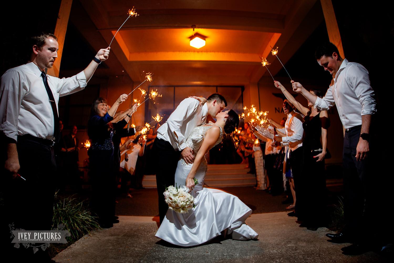 sparkler exit at a wedding in jacksonville wedding