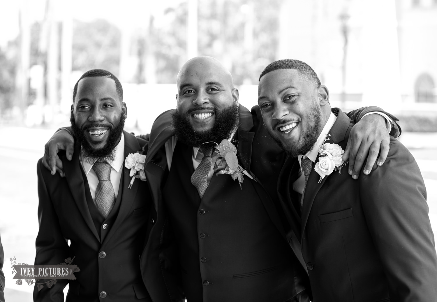 candid groomsmen photo