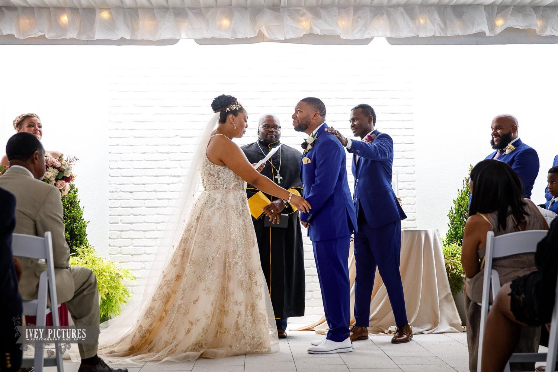 emotional groom at wedding