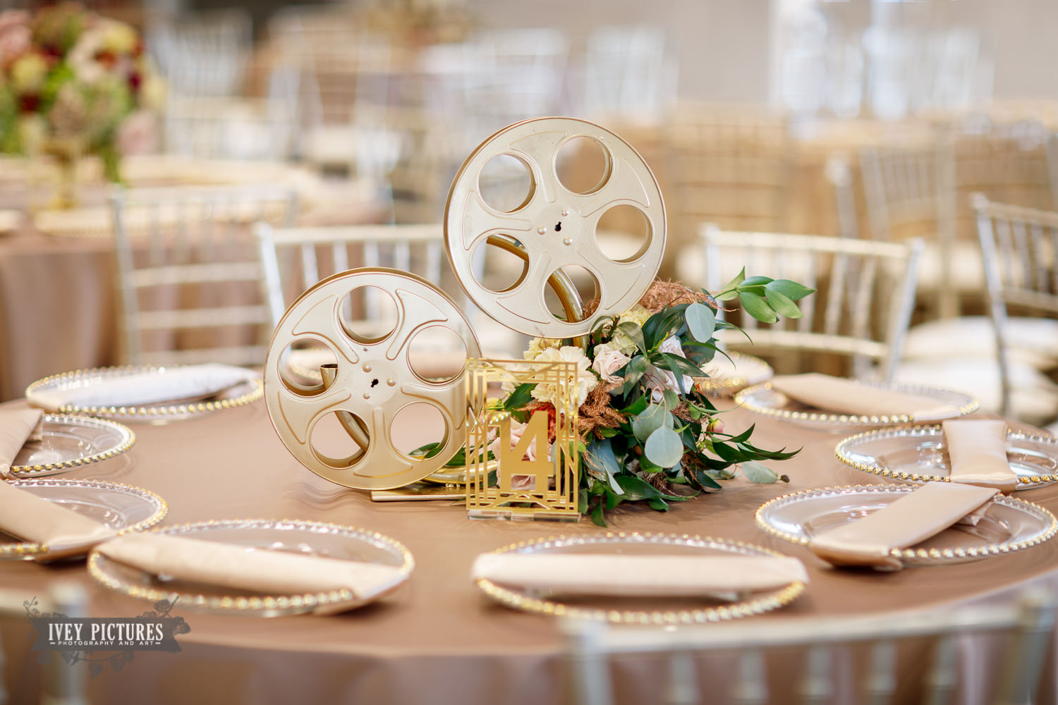 movie theatre themed wedding