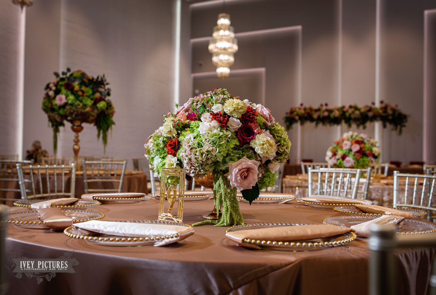wedding flowers on table