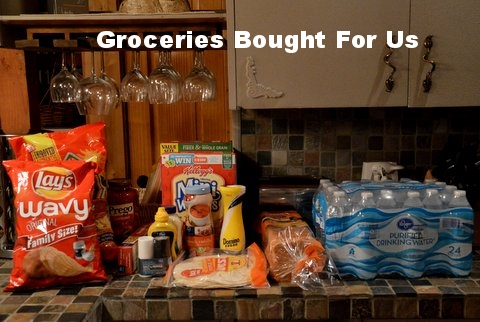 Our groceries awaiting us!