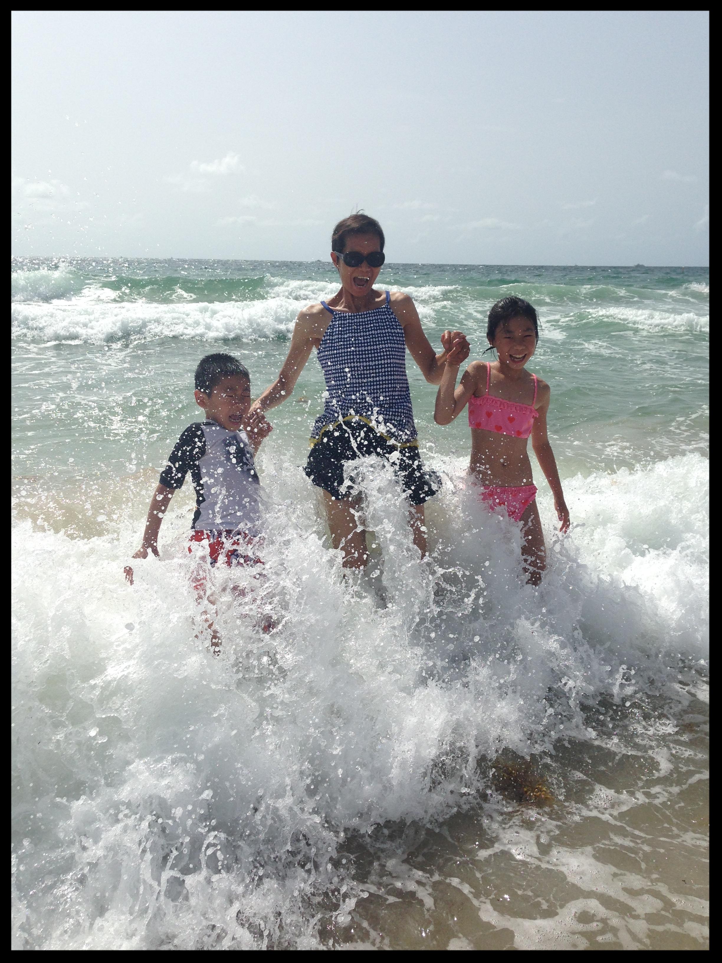 MICHELLE W KIDS IN WATER.JPG