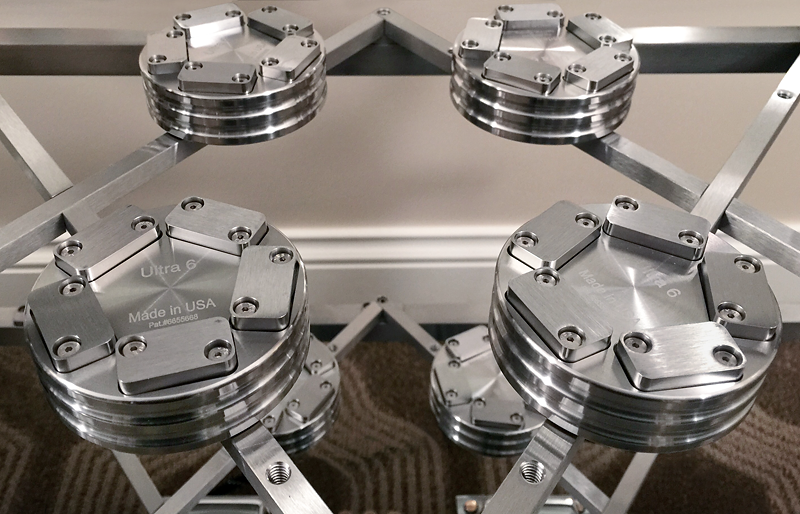 Stillpoints Ultra 6's mounted to ESS Rack / Grid system.© 2015 Wes Bende