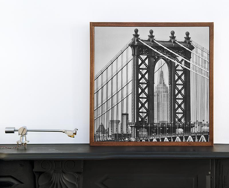 Stillpoints Aperture panel in Walnut with custom Wes Bender photo insert.© 2015 Wes Bender