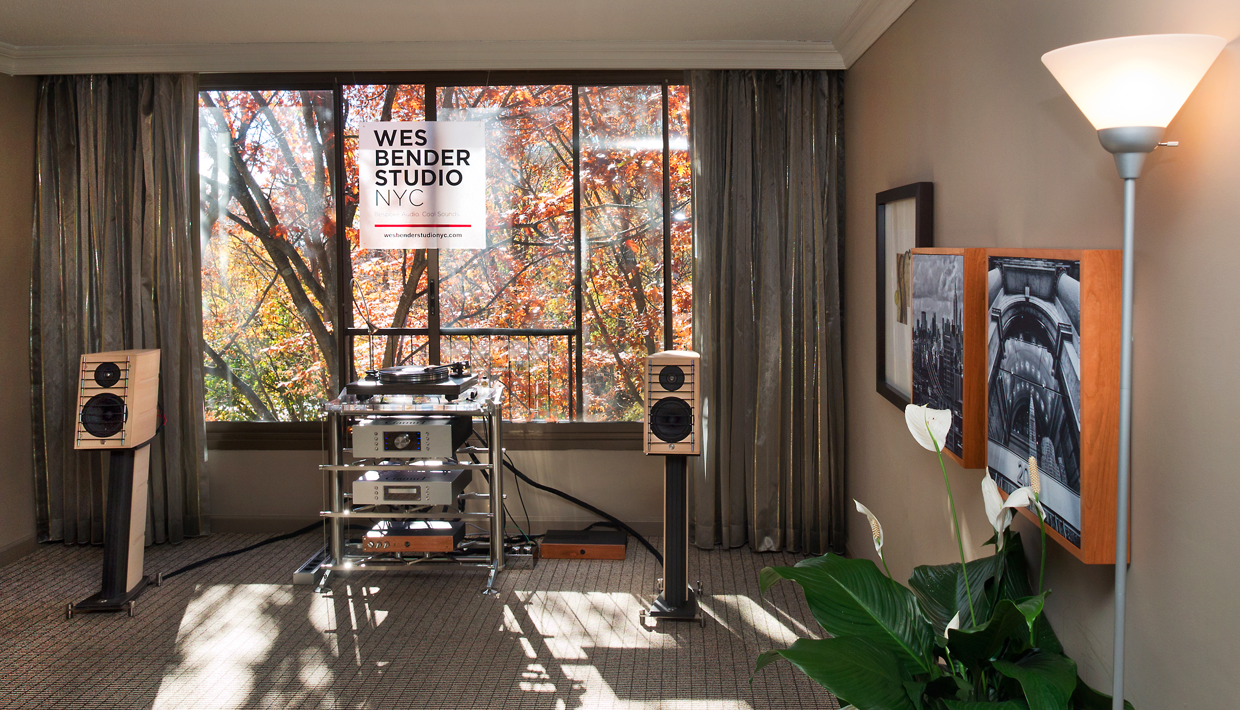 Wes Bender Studio NYC and GamuT Room at NY Audio Show 2015© 2015 Wes Bender