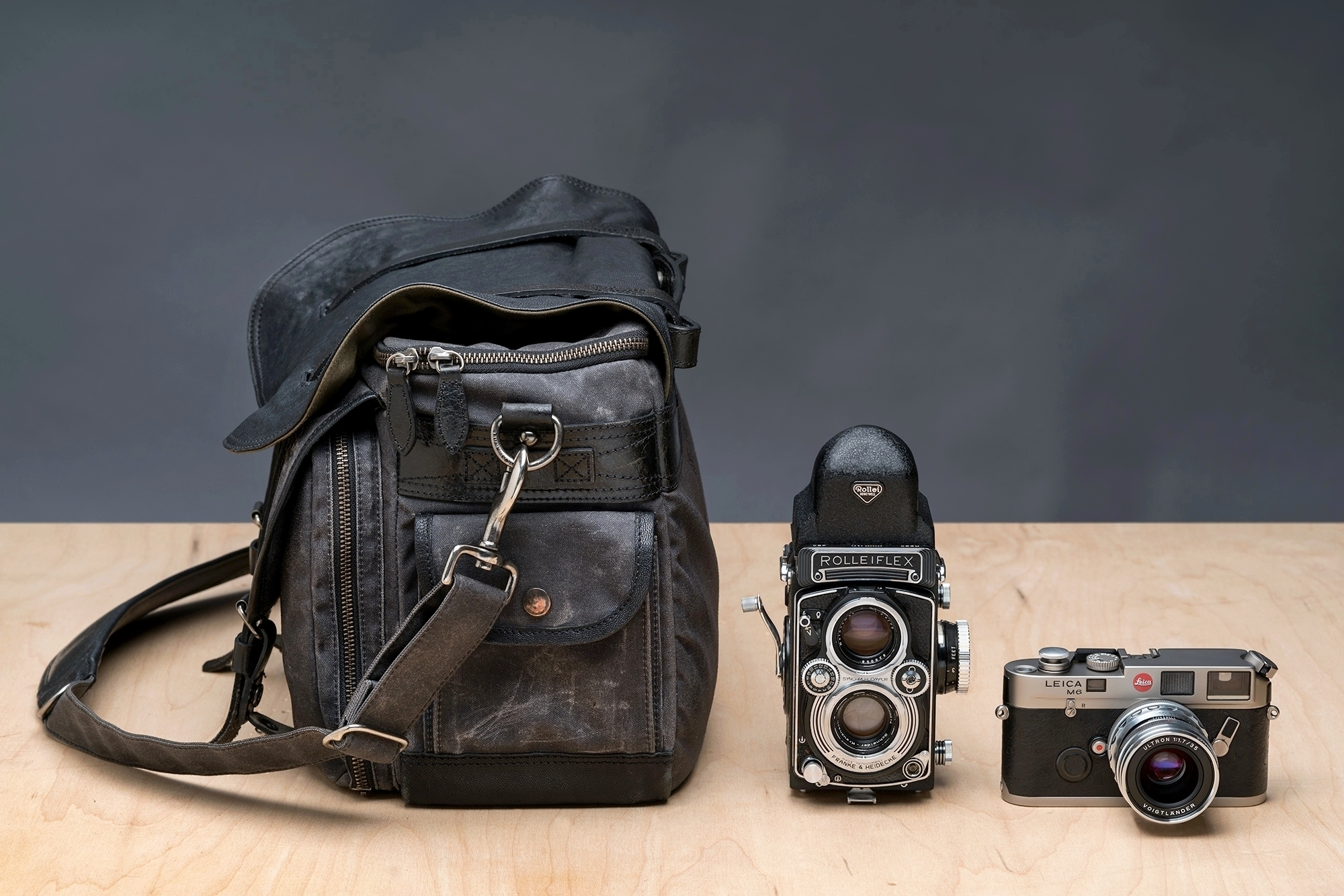 Avenger with Rolleiflex and M6T