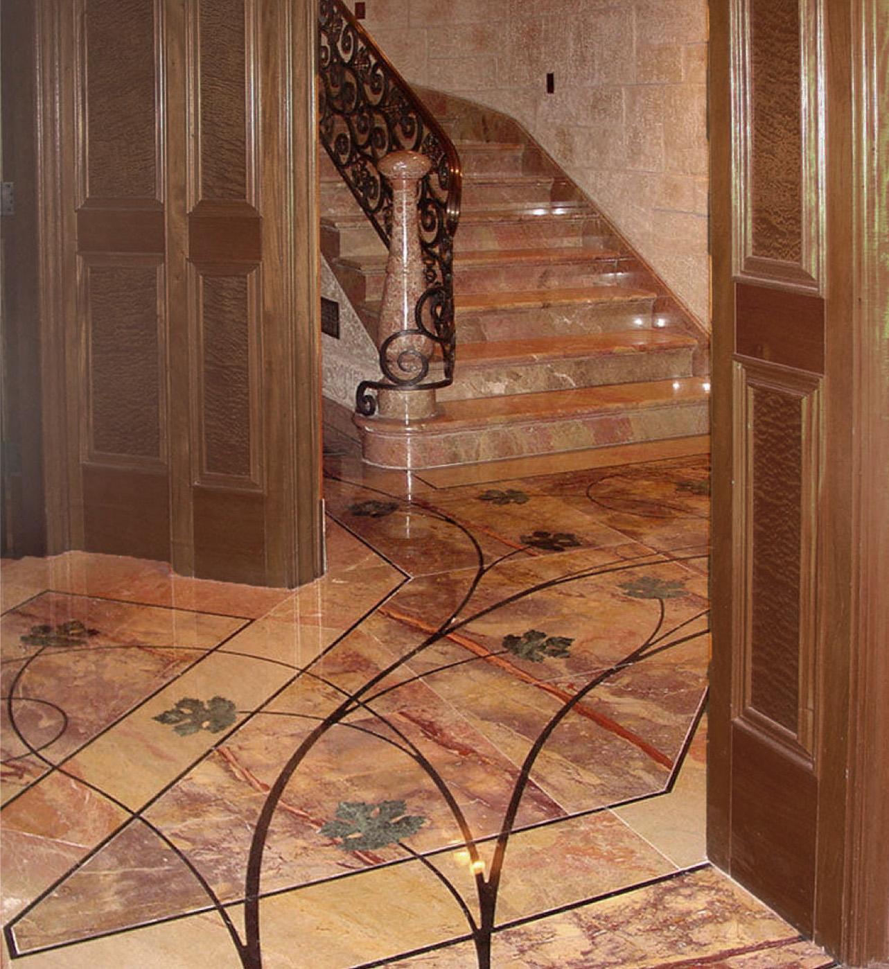 pietra dura marble floor