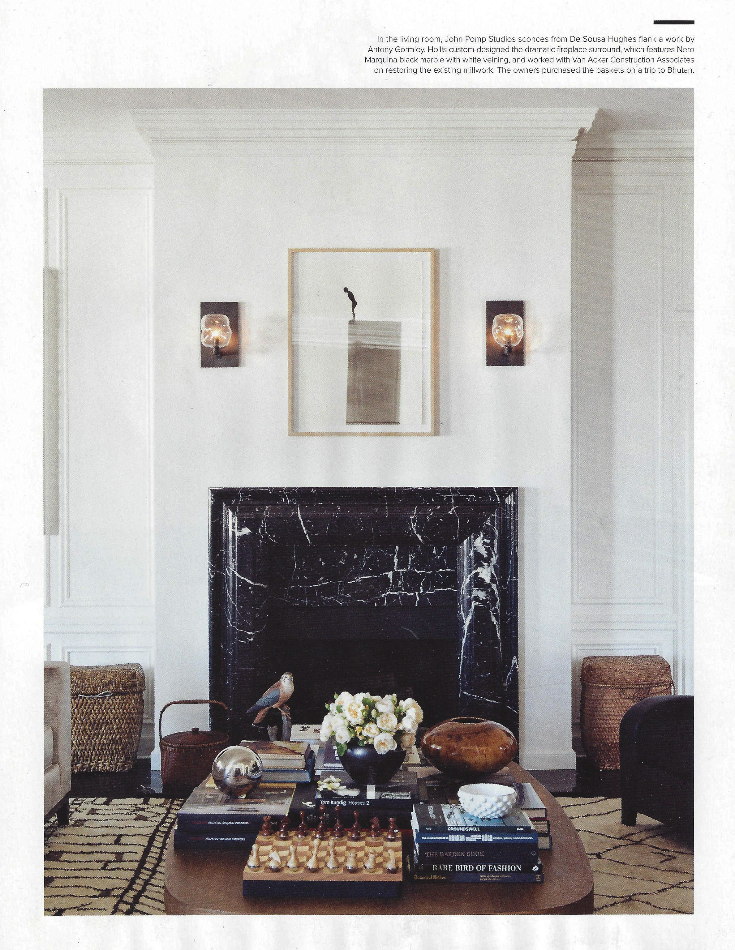 LUXE MAGAZINE - FIREPLACE SURROUND FOR NICOLE HOLLIS