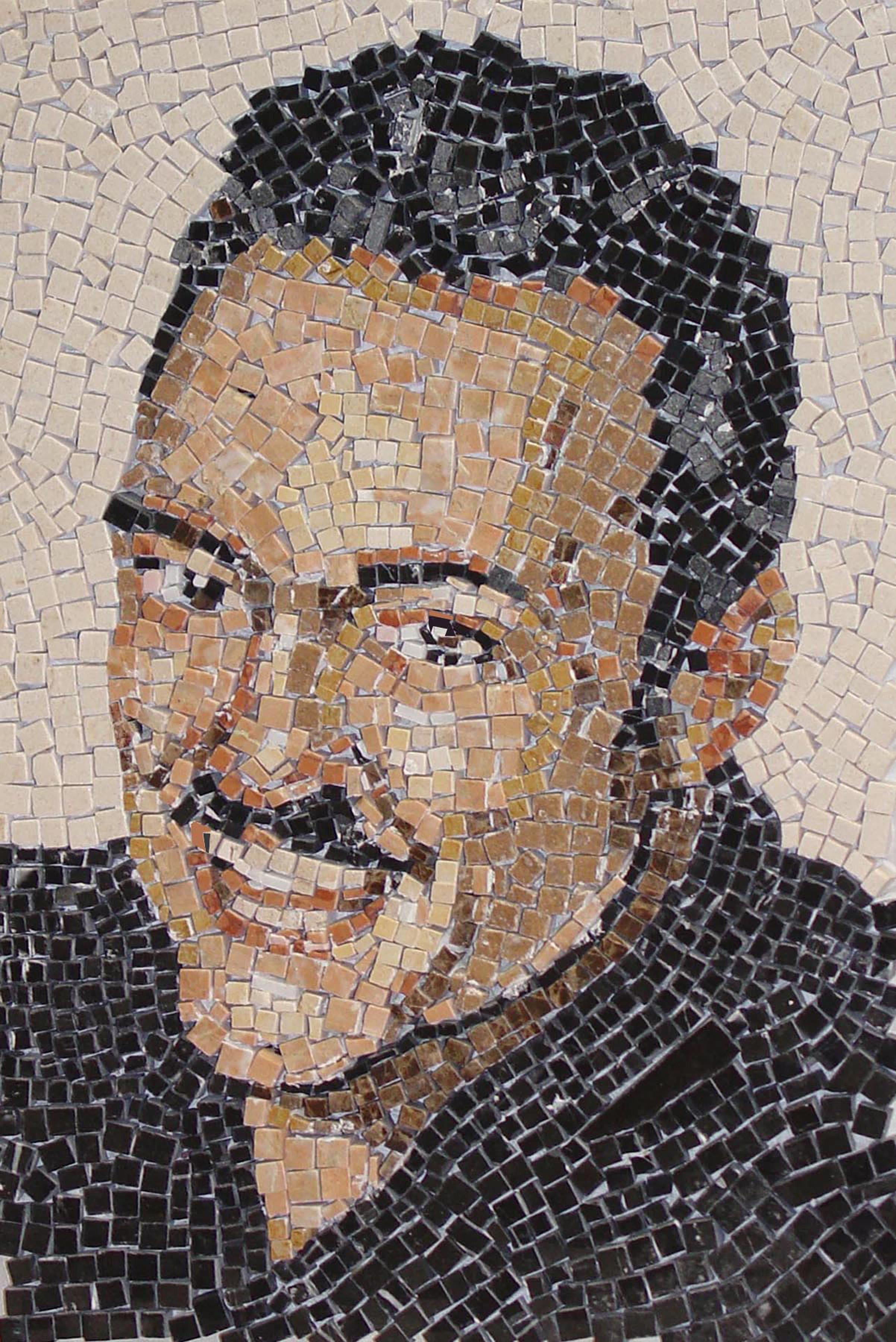 Marble Mosaic Portrait