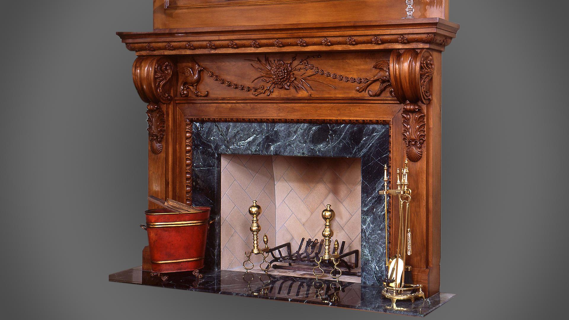 Fireplace Surround - Walnut