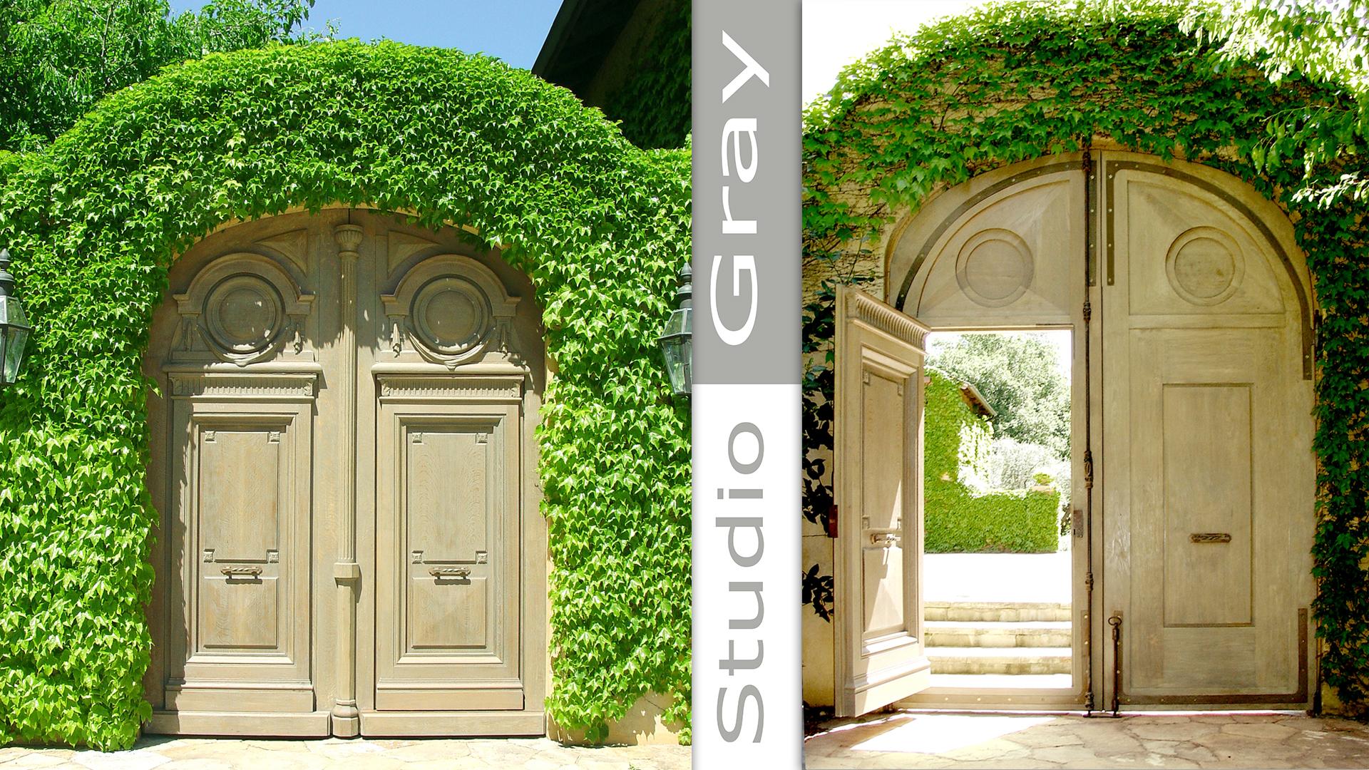 Entry Doors in White Oak