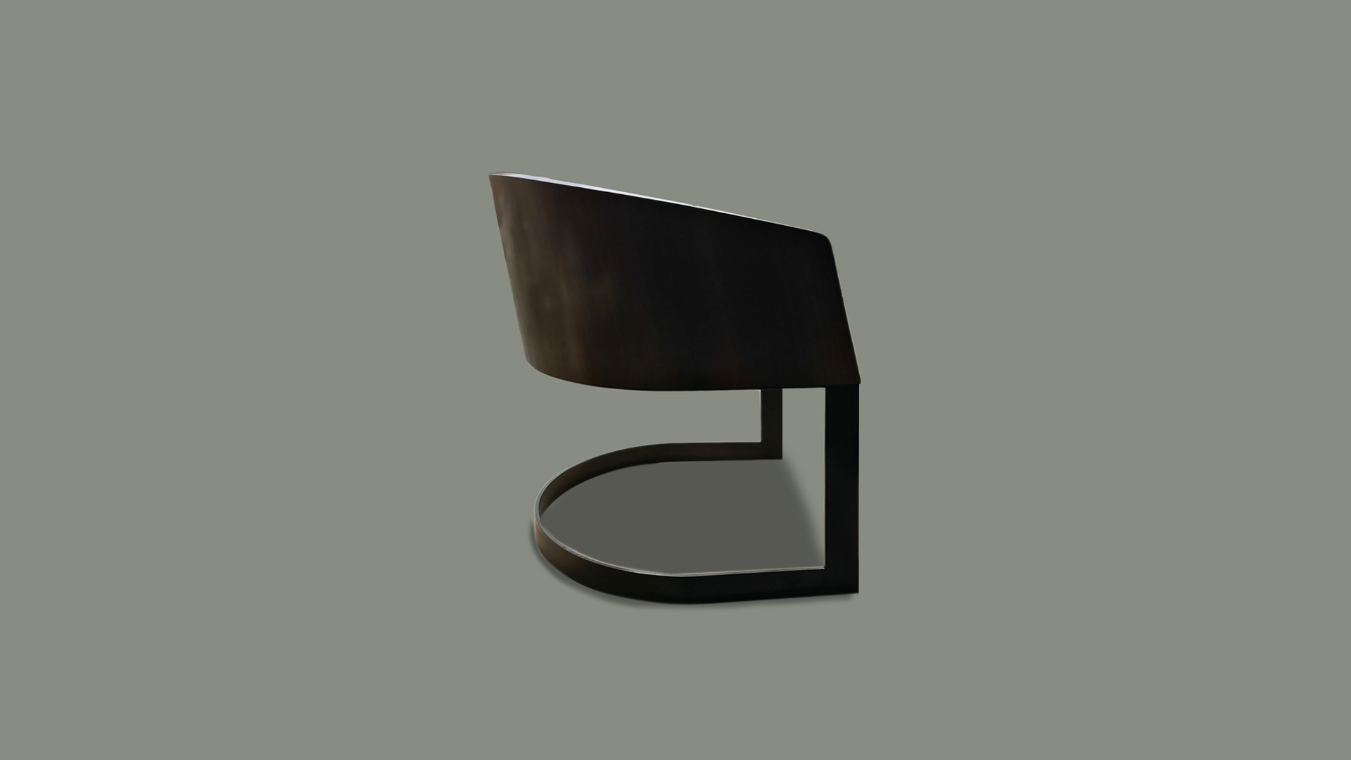 Walnut and Steel Dining Chairs