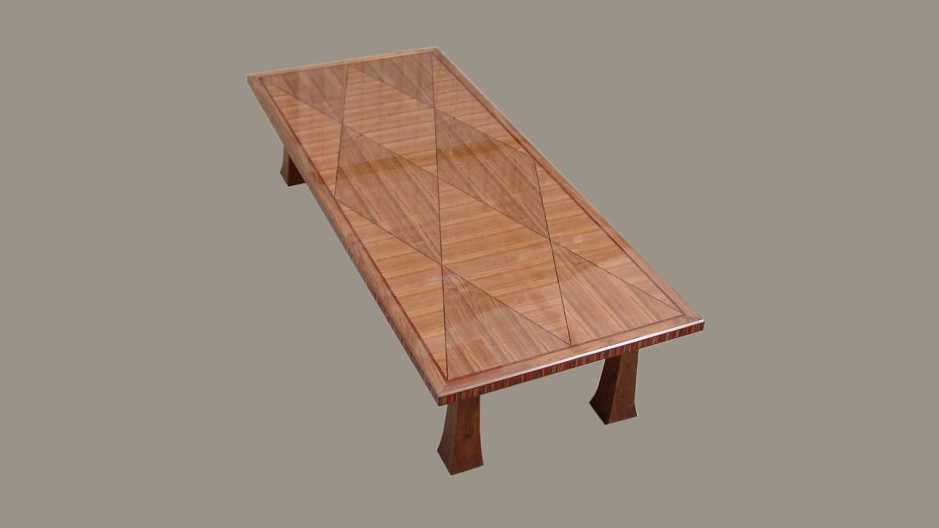 Dining Table with Marquetry