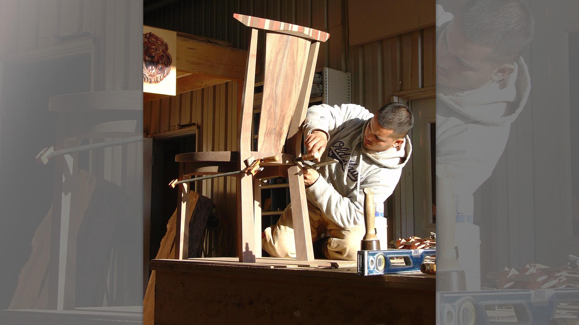 Chairs in Walnut