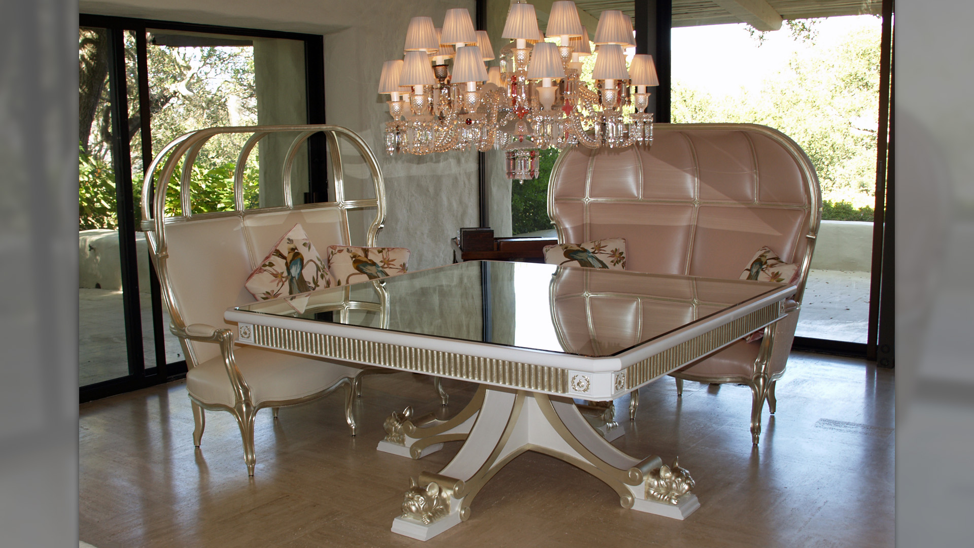 Dining Table and Settees