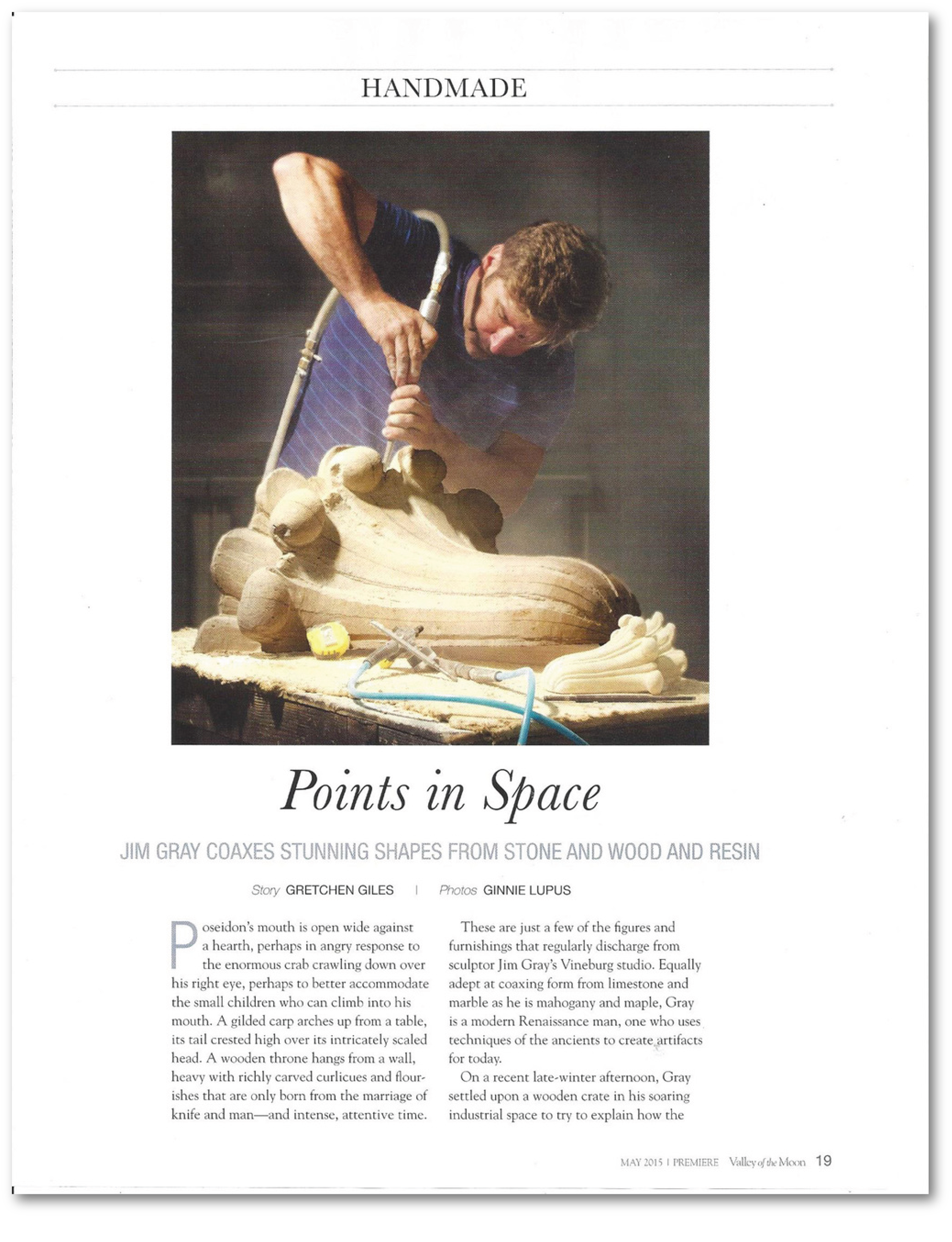 VALLEY OF THE MOON ARTICLE, HANDMADE SECTION, MAY 2015