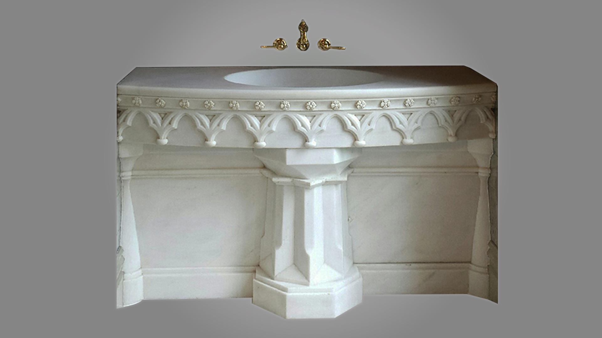 Statuario Marble Sink
