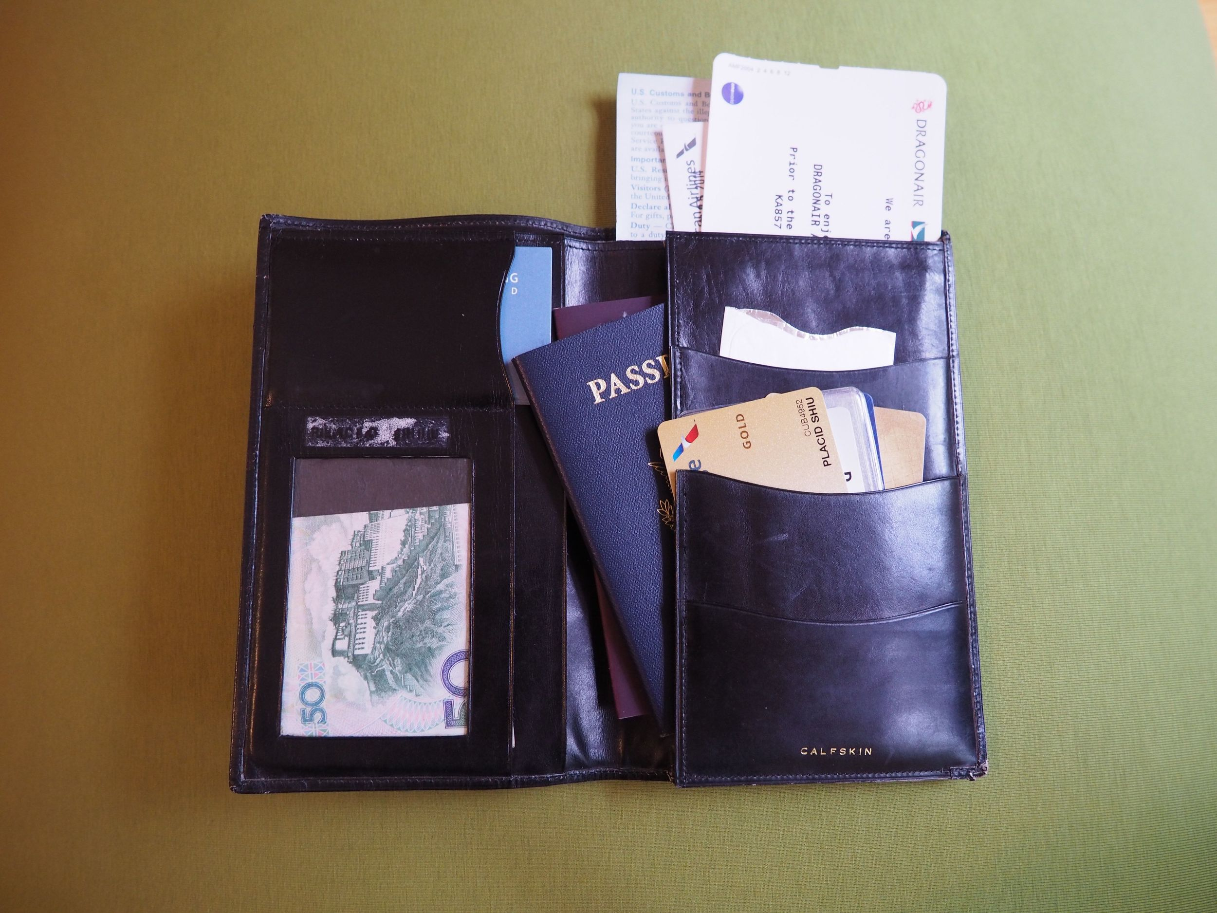My Old Travel Wallet