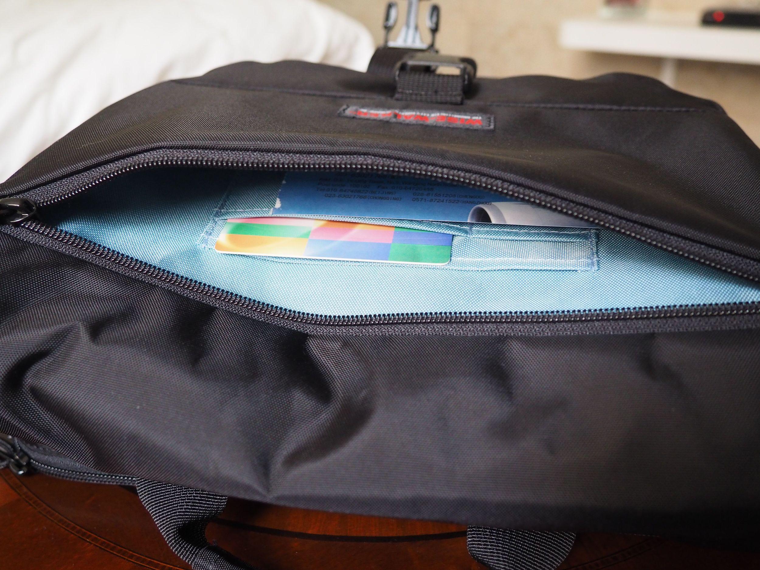 wise-walker OS-01 urban day bag front outside pocket