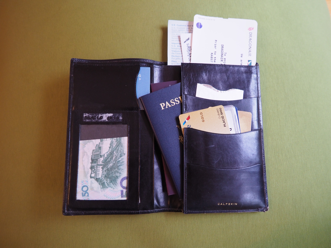 my very old travel wallet