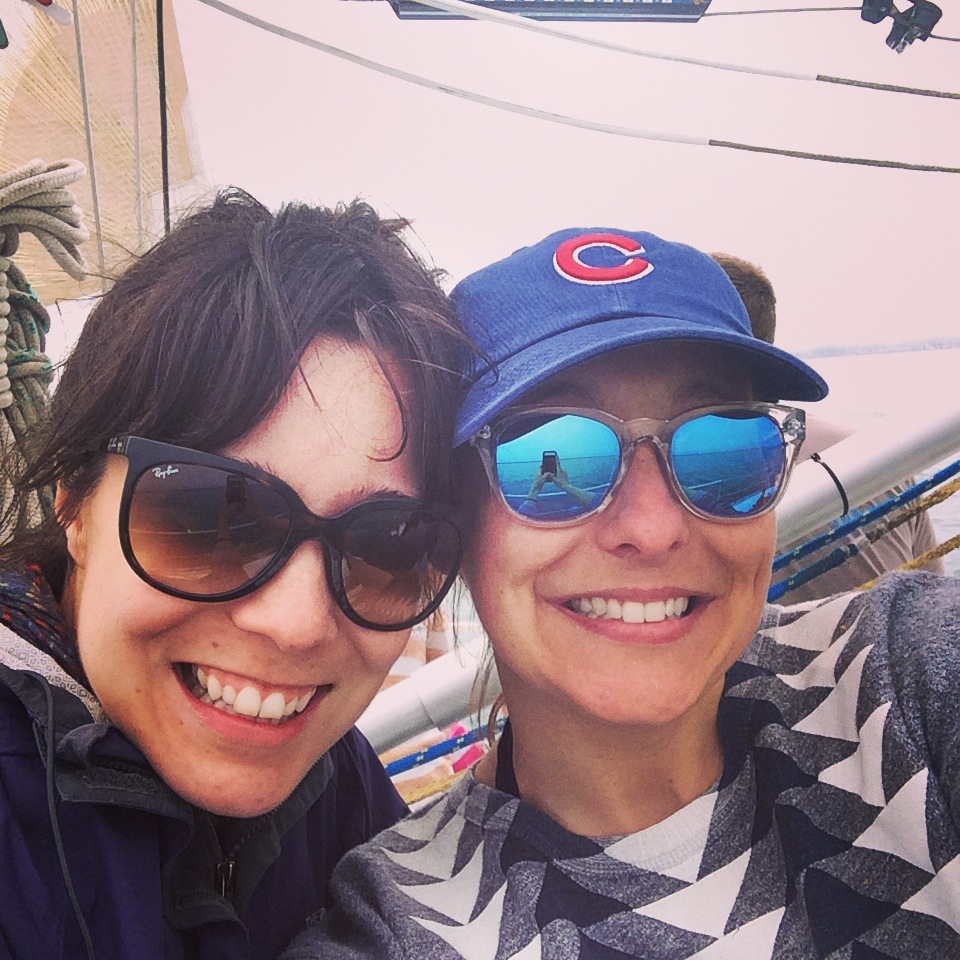 Sailing selfie with the darling  Sara J .