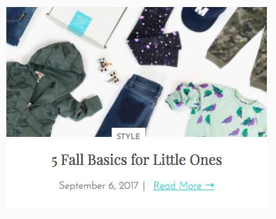 5 Fall Basics for Little Ones