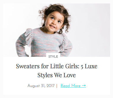Luxe Sweaters for Little Girls