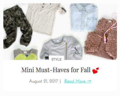 Mini Must-Haves for Fall