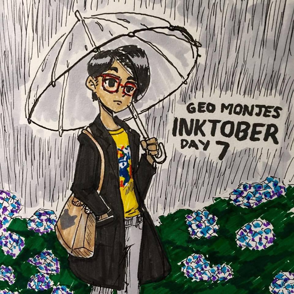 Day 7: Amazon Rainy Day Wishlist - Lawson clear Umbrella, Jins MCF-15S-U190 Red Violet Glasses, FANGIRRLZ NYAnki tee, black cat tote bag, Uniqlo Cashmere Chesterfield Coat in Black