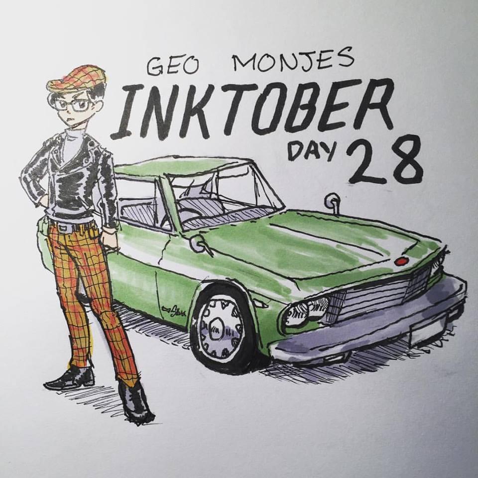 Day 28: Amazon Vintage Wishlist: Plaid Polyester Skinny pants, motorcycle leather jacket, twill drivers hat, 1967 Nissan Silvia CSP311