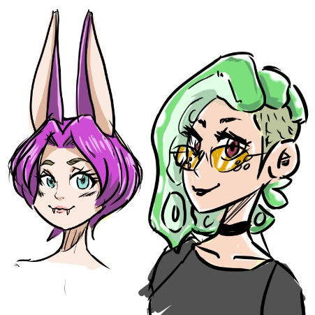 One fun concept I thought about was drawing the people I thanked in my first comic. They could appear as side characters such as these two.