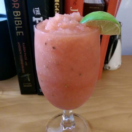 watermelon rum slushie