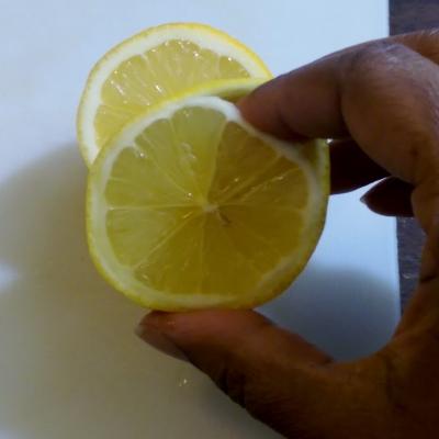 lemon rose - step 2