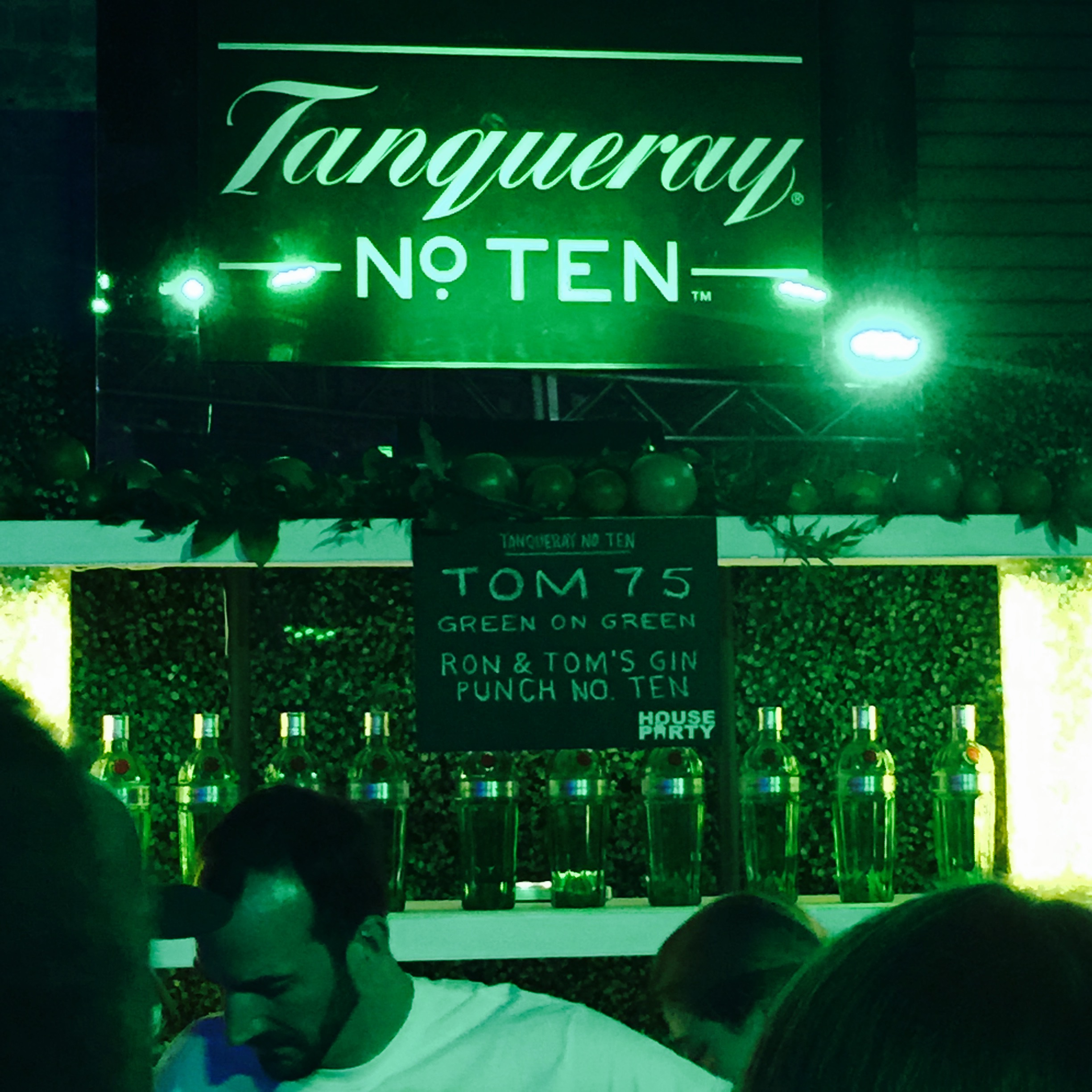 Tangueray station at the Diageo Backyard Party