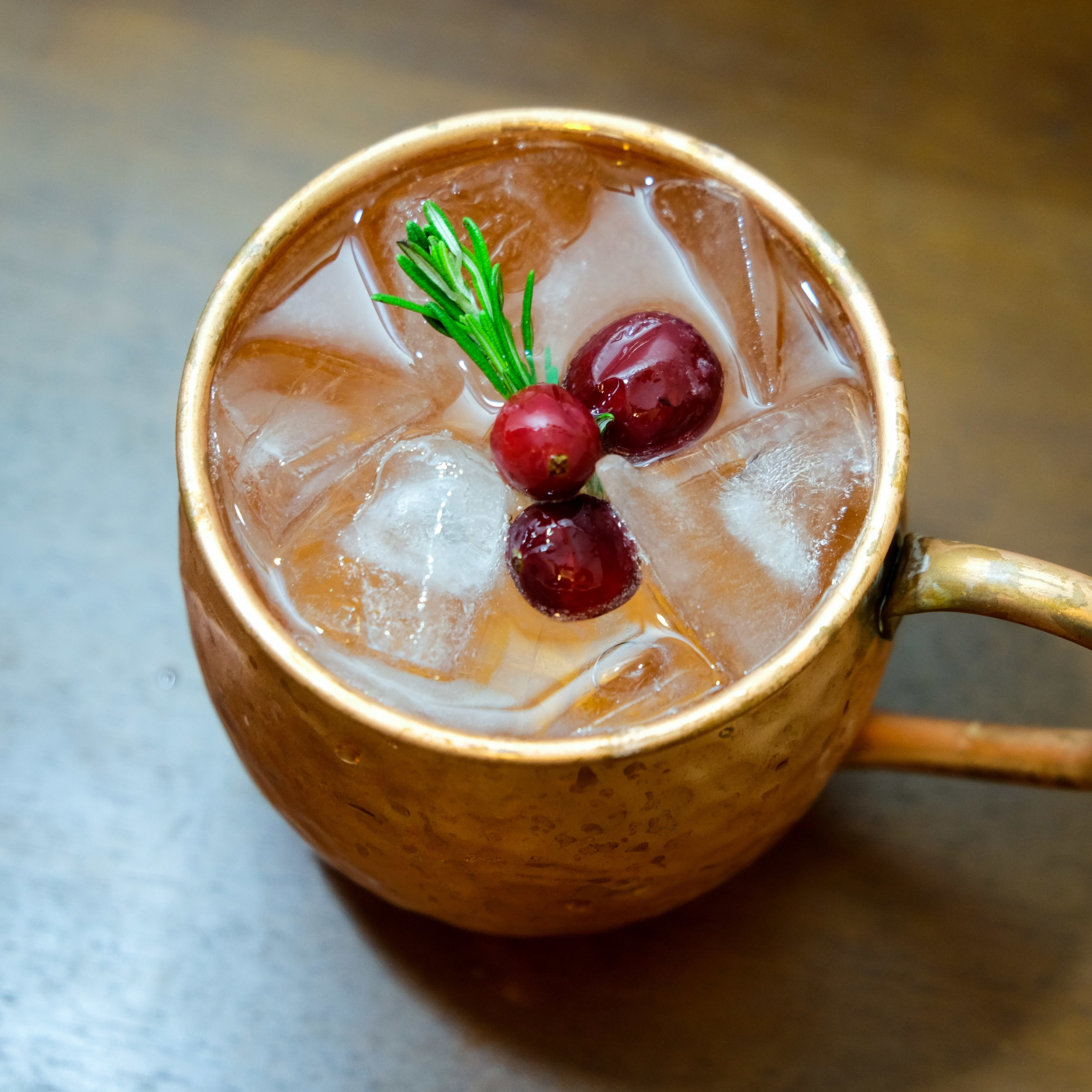 Christmas Mule Cocktail