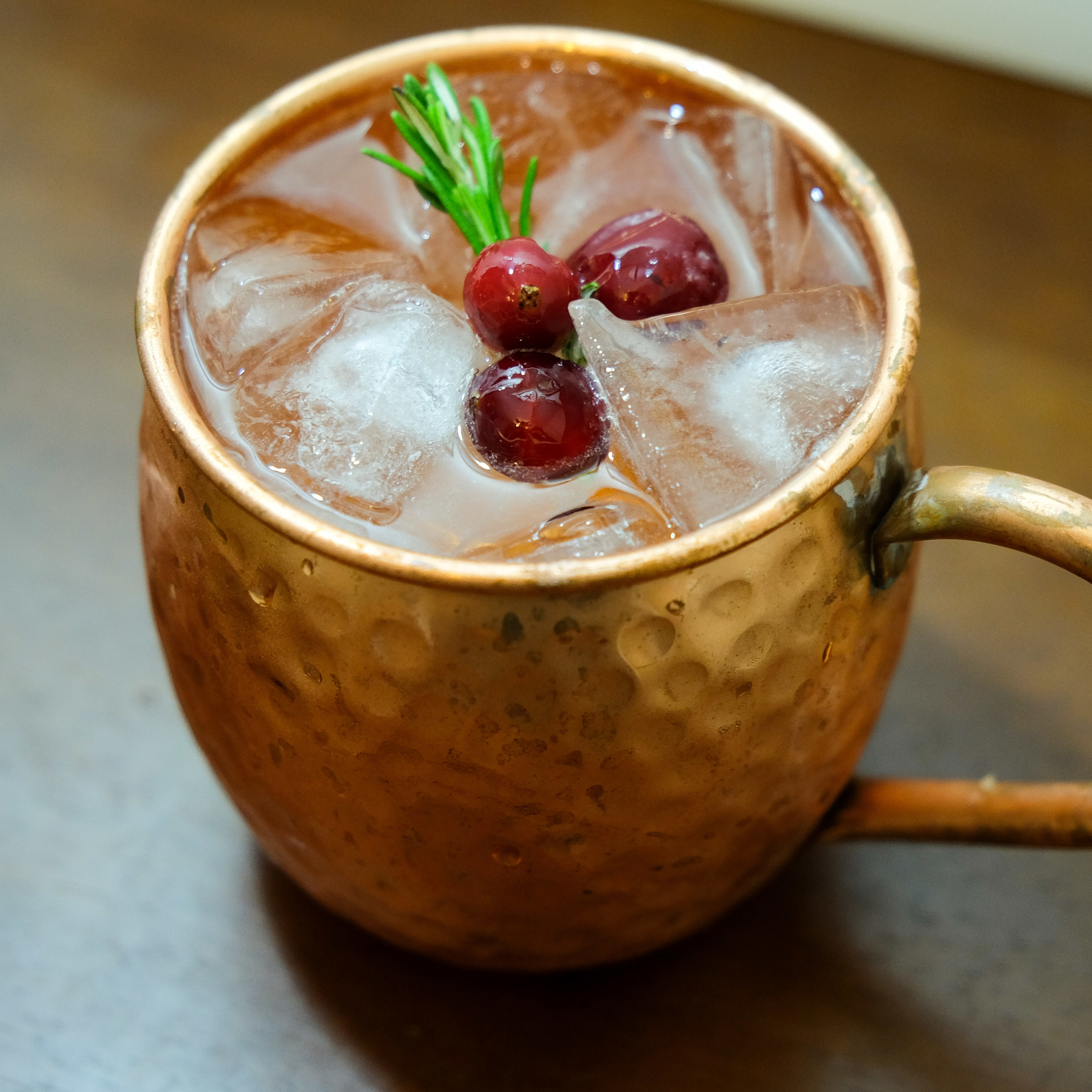 Cranberry & Rosemary mule