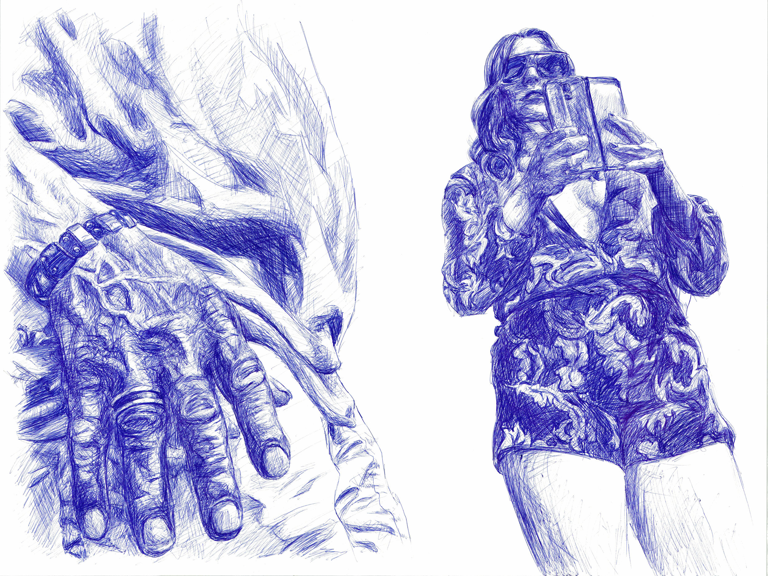 """24"""" x 36""""  ballpoint pen on paper  2016"""
